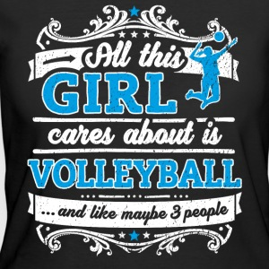 All This Girl Cares About Is Volleyball Fun Shirt - Women's 50/50 T-Shirt