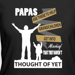 Papas Are There To Help Grandchildren T Shirt - Women's 50/50 T-Shirt