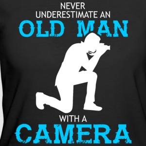 Old Man With A Camera T Shirt - Women's 50/50 T-Shirt