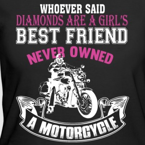 Girl's Best Friend Never Owned A Motorcycle TShirt - Women's 50/50 T-Shirt
