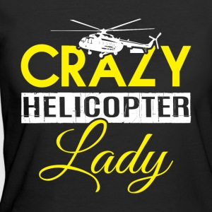 Crazy Helicopter Lady T Shirt - Women's 50/50 T-Shirt