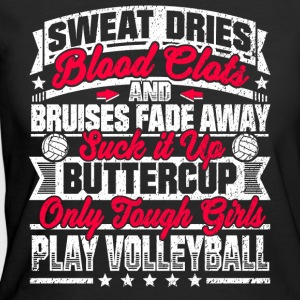 Volleyball Girls: Only Tough Girls Play Volleyball - Women's 50/50 T-Shirt