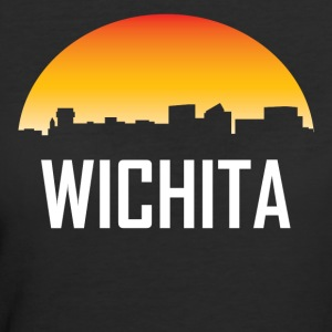 Wichita Kansas Sunset Skyline - Women's 50/50 T-Shirt