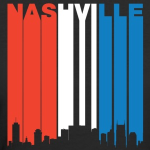 Red White And Blue Nashville Tennessee Skyline - Women's 50/50 T-Shirt