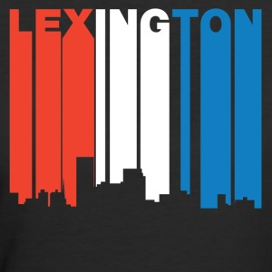 Red White And Blue Lexington Kentucky Skyline - Women's 50/50 T-Shirt