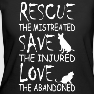 Rescue the mistreated save the injured love - Women's 50/50 T-Shirt