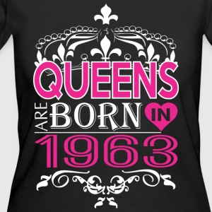 Queens Are Born In 1963 Happy Mothers Day - Women's 50/50 T-Shirt