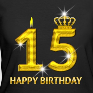 15 - Happy Birthday - Golden Number - Women's 50/50 T-Shirt