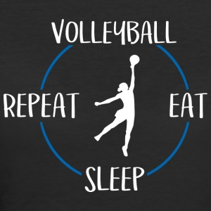 Volleyball, Eat, Sleep, Repeat - Women's 50/50 T-Shirt