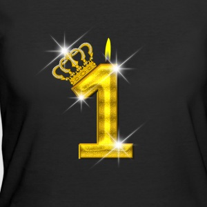 1 - Birthday - Golden Number - Crown - Flame - Women's 50/50 T-Shirt