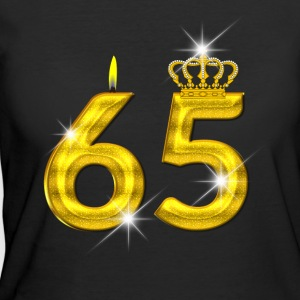 65 - Birthday - Golden Number - Crown - Flame - Women's 50/50 T-Shirt