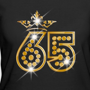 65 - Birthday - Queen - Gold - Burlesque - Women's 50/50 T-Shirt