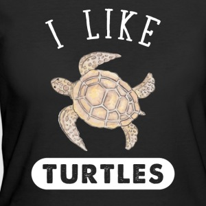 I like turtles - Women's 50/50 T-Shirt