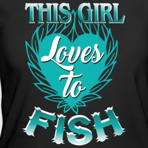 This Girl Loves To Fish T Shirt - Women's 50/50 T-Shirt