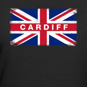 Cardiff Shirt Vintage United Kingdom Flag T-Shirt - Women's 50/50 T-Shirt