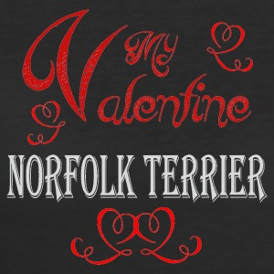 A romantic Valentine with my Norfolk Terrier - Women's 50/50 T-Shirt