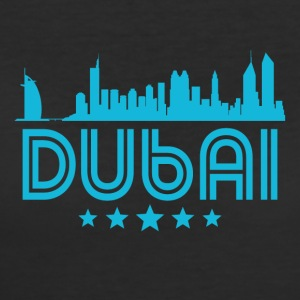 Retro Dubai Skyline - Women's 50/50 T-Shirt