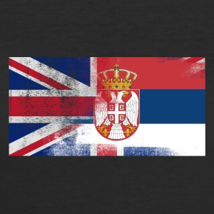 British Serbian Half Serbia Half UK Flag - Women's 50/50 T-Shirt