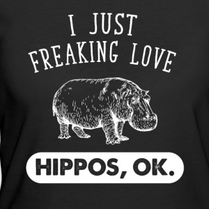 I just freaking love hippos ok - Women's 50/50 T-Shirt