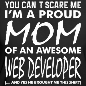 Cant Scare Me Proud Mom Awesome Web Developer - Women's 50/50 T-Shirt