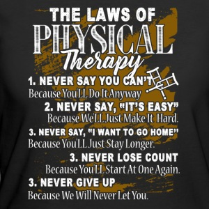 THE LAWS OF PHYSICAL THERAPIST SHIRT - Women's 50/50 T-Shirt