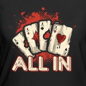All In Aces Cards Blackjack Poker Shirt - Women's 50/50 T-Shirt