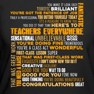 GREAT TEACHERS WORD SHIRT - Women's 50/50 T-Shirt