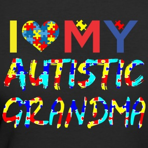 I Love My Autistic Grandma Autism Awareness - Women's 50/50 T-Shirt