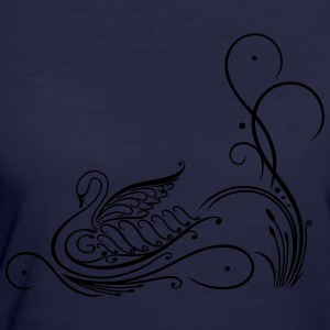 Filigree calligraphy swan with reed - Women's 50/50 T-Shirt
