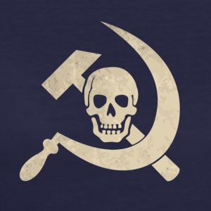 Cool golden skull with hammer and sickle - Women's 50/50 T-Shirt