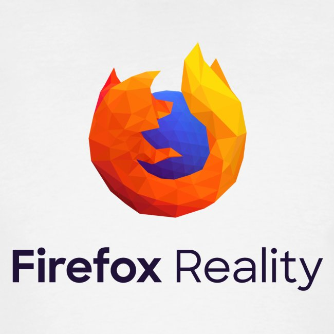 Firefox Reality - Transparent, Vertical, Dark Text