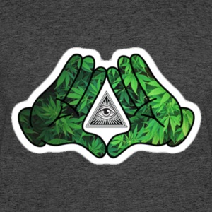 illuminati_weed.bat - Men's 50/50 T-Shirt