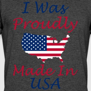 I Was Proudly Made In USA Memorial Day - Men's 50/50 T-Shirt