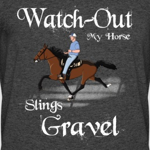 Watch out my horse Slings Gravel - Men's 50/50 T-Shirt