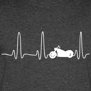 EKG HEARTLINE BIKE white - Men's 50/50 T-Shirt