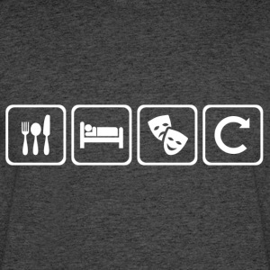 Eat. Sleep. Theatre. Repeat. - Men's 50/50 T-Shirt