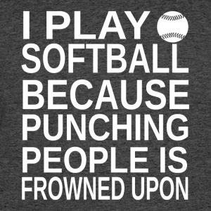 Softball-I play-cool shirt gift,hoodie,geek tank - Men's 50/50 T-Shirt