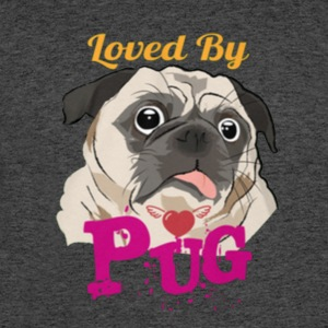 loved by pug - Men's 50/50 T-Shirt