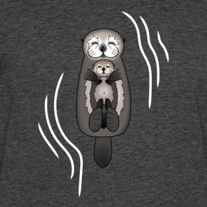 Mother and Pup Sea Otters Mom Holding Baby Otter - Men's 50/50 T-Shirt
