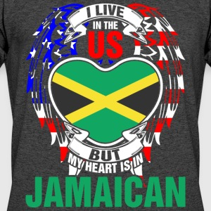 I Live In The Us But My Heart Is In Jamaican - Men's 50/50 T-Shirt