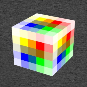 Multi Colored Cube - Men's 50/50 T-Shirt