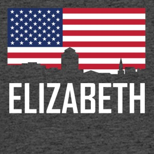 Elizabeth New Jersey Skyline American Flag - Men's 50/50 T-Shirt