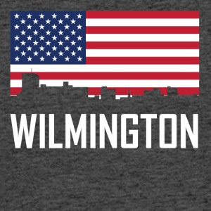 Wilmington North Carolina Skyline American Flag - Men's 50/50 T-Shirt