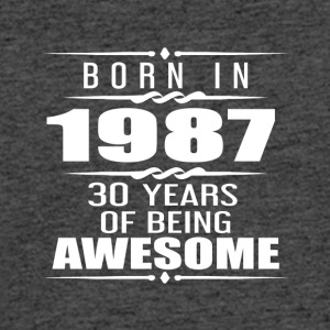 Born in 1987 30 Years of Being Awesome - Men's 50/50 T-Shirt