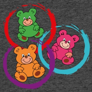 three teddybears in circles - Men's 50/50 T-Shirt