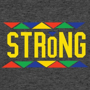 Strong (Yellow Letters) - Men's 50/50 T-Shirt