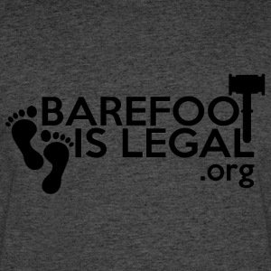 Barefoot is Legal black on white...mostly - Men's 50/50 T-Shirt