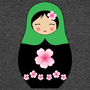 Green Matryoshka doll with flowers - Men's 50/50 T-Shirt