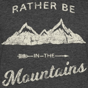 RATHER BE IN THE MOUNTAINS - Men's 50/50 T-Shirt