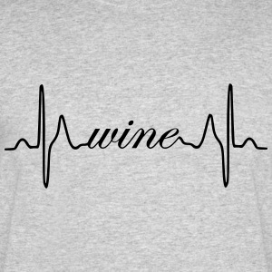 Wine ECG heartbeat - Men's 50/50 T-Shirt
